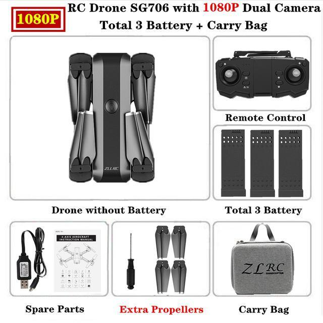 SG706 HD 1080p Carry Bag 3 batteries