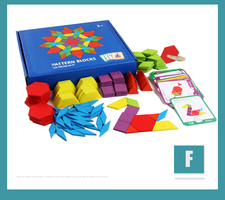 Montessori Wooden Jigsaw Puzzle Board