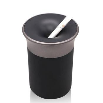 Black Portable Car Ash Tray Ashtray Storage Cup desk Ashtray Cigarette Holder