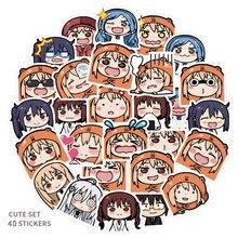 40Pcs Anime Himouto Umaru-chan Stickers Scrapbooking 3-4 CM Cute Waterproof Graffiti
