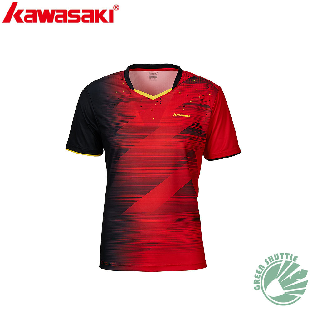 2020 New Professional Kawasaki Men And Women Badminton T-shirt With Short Sleeves ST-R1216 R1218 Quick-dry Jersey