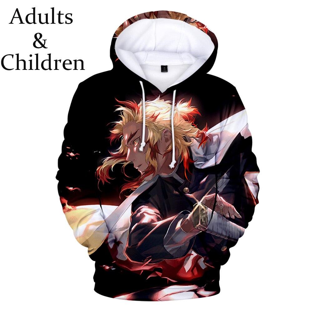 Autumn Ghost Blade 3D Hoodies Men Women Fashion Kids Harajuku Print Comic Demon Slayer 3D Casual Hoodies Boys Girls Sweatshirts