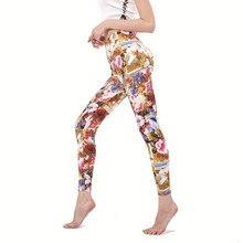 Legging Print Fitness Pencil-Pants Ankle-Length Workout Treetwear High-Waist Plus-Size