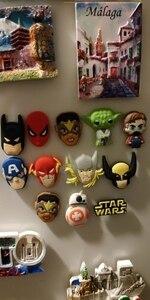 8 шт./лот, Микки/Мстители/Супергерои/Звездные войны, горячие Мультяшные магниты на холодильник, ПВХ наклейки на доски для дома/кухни, Декор, подарок для детей