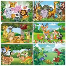 Фон с изображением животных для вечеринки в стиле сафари тропические