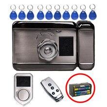 Trava de chip de alta segurança, cartão inteligente simples, fechaduras eletrônicas sem fio, trava de porta, cartão de entrada sem chave