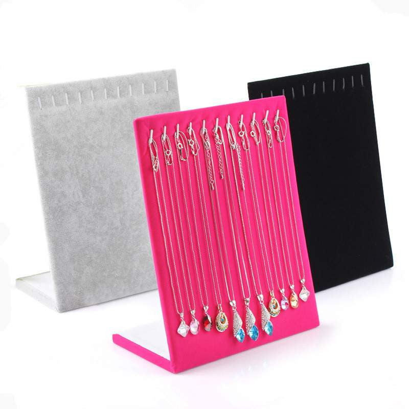 11 Hooks L Shape Necklace Display Rack/Jewelry Holder/Chain Display Stand/Bracelet Earrings Ear Studs Show/Jewelry Organizer Box