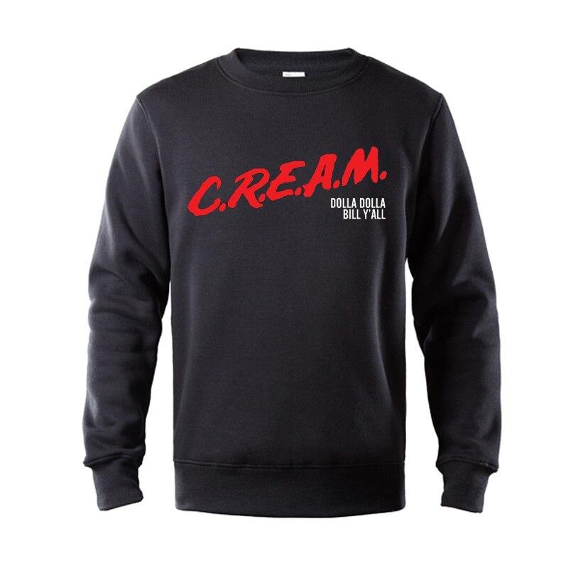 C.R.E.A.M. DARE Wu-Tang Clan Underground Hip Hop Legends Men's Hoodies Top Quality Cotton Fleece Printed Hoodie Sweatshirt