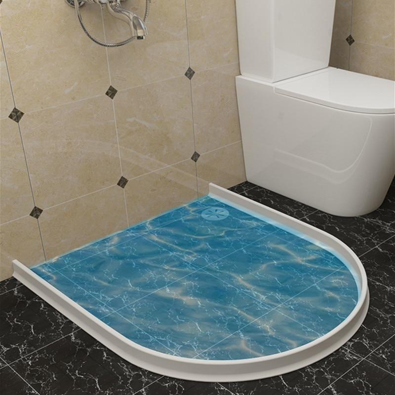 Flexibler Silikon-Wasserdurchflussstop f/ür das Bad trockene und nasse Trennung 50 cm//19.7 in NIUBIKELAS Bad Wasserbarriere Silikonstreifen Duschwanddichtung