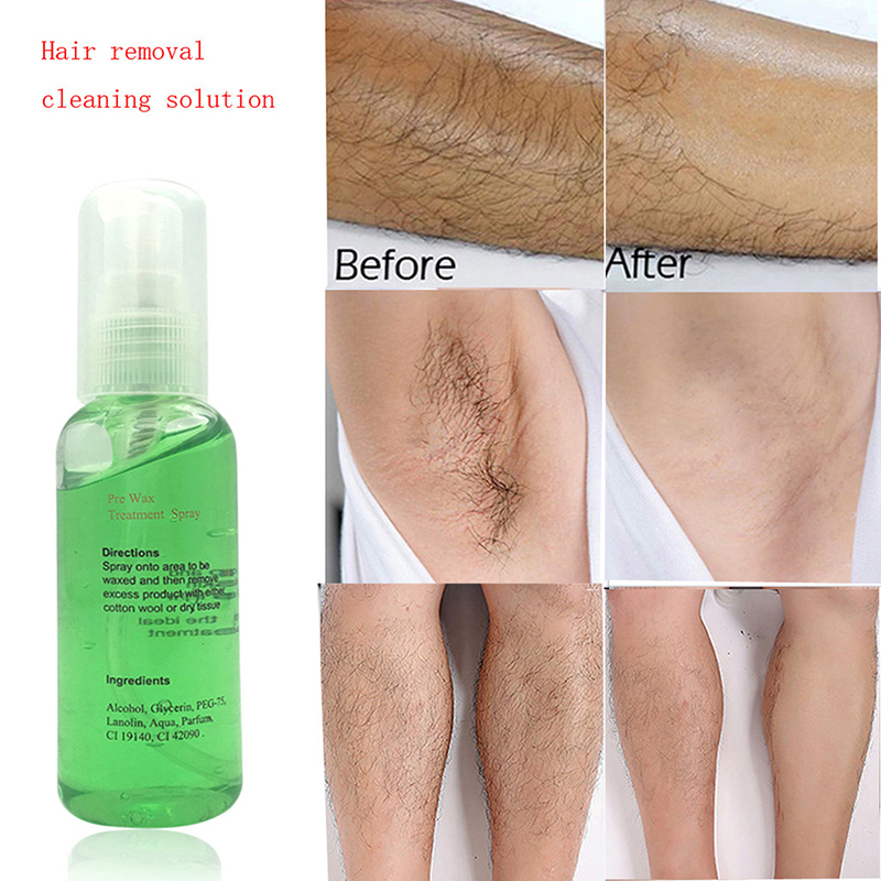 Natural Hair Removal Cleaning Care Solution Spray Beeswax Gel Type Firming Essence Painlessly Skin Repair Liquid