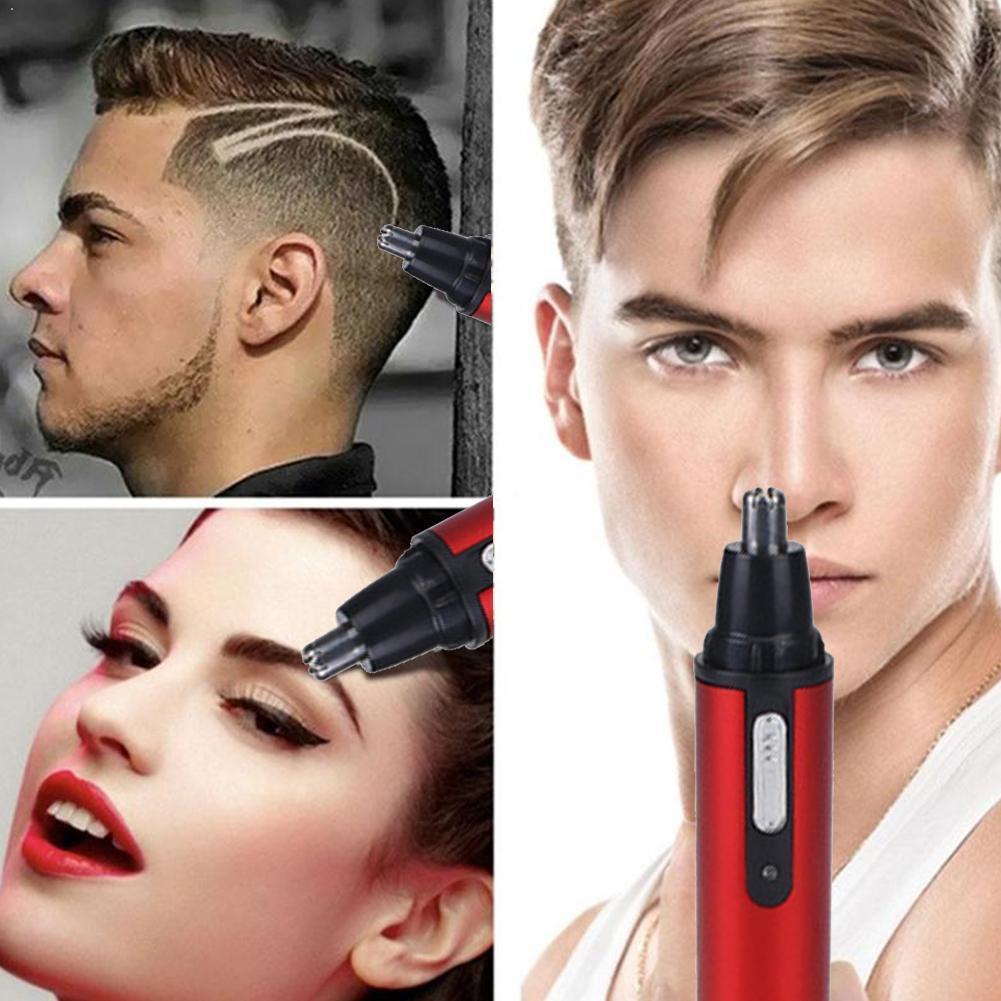Usb Rechargeable Nose Hair Trimmer Repair Nose Hair Cut Safe Care Hair Nose Trimming Shaving Tool Nose Hair Knife S6Y1
