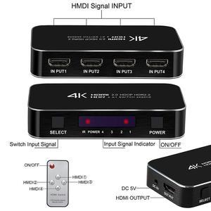 Image 5 - 4 Poort 18Gbps Hdr 4K Hdmi Switch 4X1 Ondersteuning Hdcp 2.2 Mini Hdmi 2.0 Switcher Hub box Met Ir Afstandsbediening Voor Apple Tv
