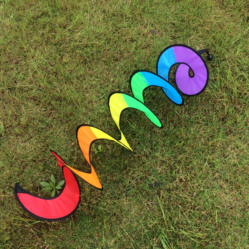 Foldable Rainbows Spirals Windmill Wind Spinners Camping Tent Home Garden Decor