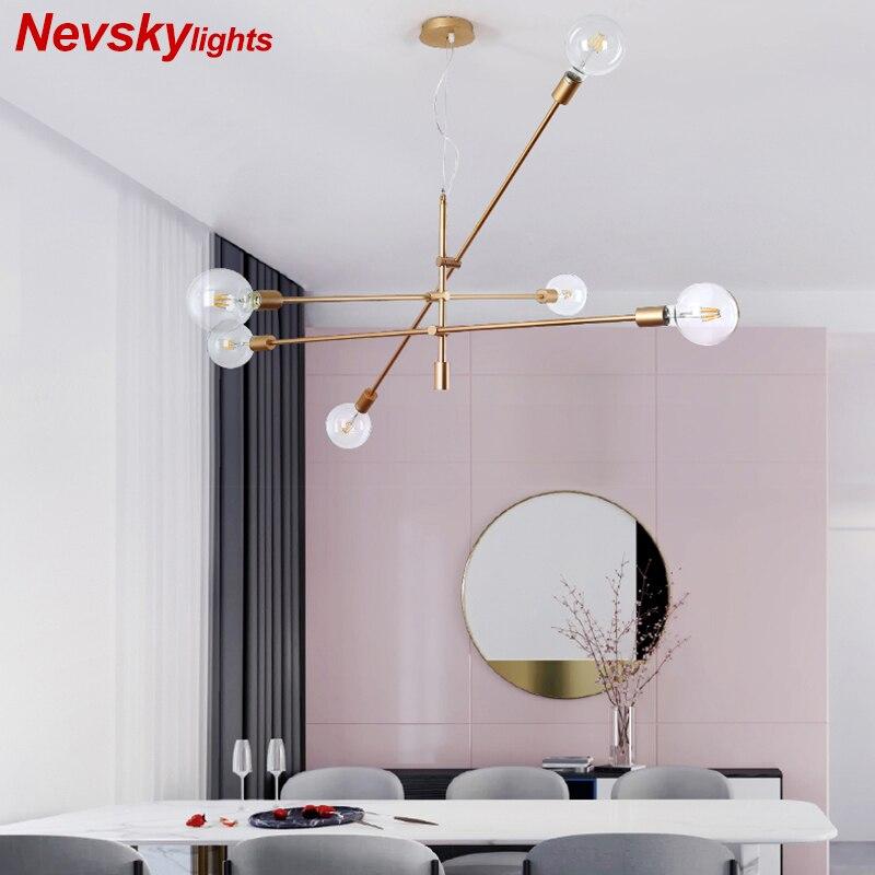 Lustres en métal moderne lampe à LED suspendu en verre blanc lampe de cuisine Luminaire Loft salle à manger salon Luminaire en or