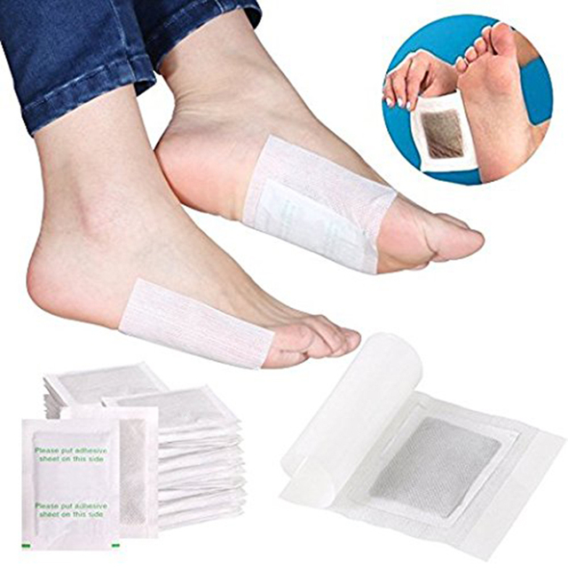 10pcs / Bag Slimming Foot Patches Detox Foot Patch Mask Relieve Fatigue Remove Toxin Foot Help Sleep Skin Care Pads Sticky TSLM1 1