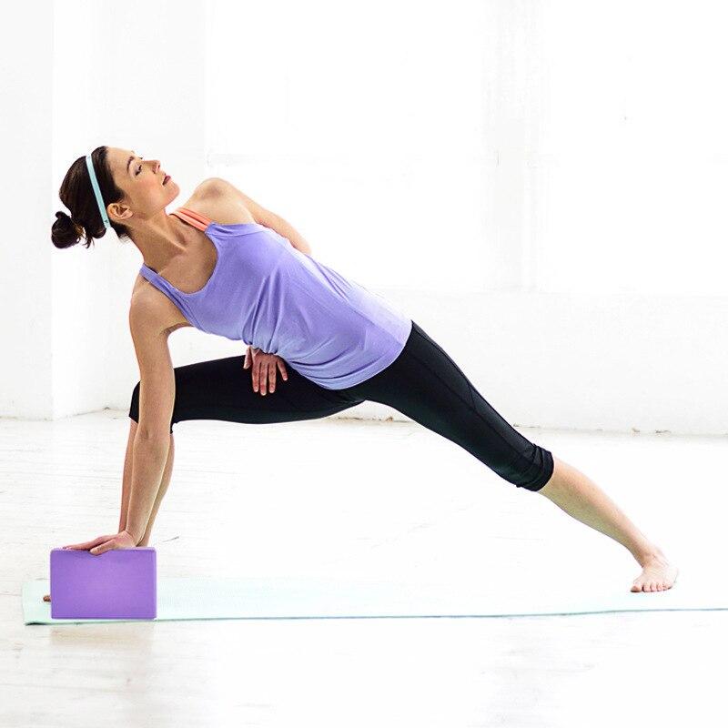 Swiftgood Yoga Block Props Foam Brick Stretching Aids Gym Pilates Yoga Block Fitness Sports High Density Eva Yoga Brick