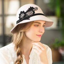 Fedora Hats Felt Big-Brim Winter Women And Autumn Wool 56-58cm Party Elegant Lady 100%Australia