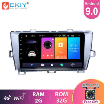 EKIY 9 IPS Android 9.0 For Toyota Prius 2009-2015 Car Radio Navigation GPS Multimedia Video Player Stereo No 2Din DVD BT RDS FM image
