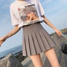 Mini Skirts Kawaii Short Girls Black Sweet High-Waist Women Pleated Dance Cosplay Female