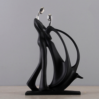 Decoration Desktop Gift Resin Simple Party Bedroom Couple Sculpture Ornament Office Carft Home Festival Dancing