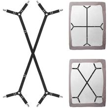 Suspenders Crisscross Fitted Band Adjustable Mattress Pad Duvet Cover Bed Sheet Corner Holder Elastic Straps Fasteners
