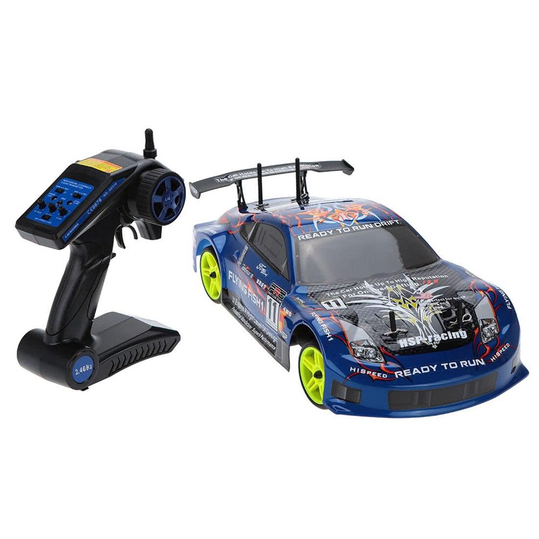 Voiture de sport alimentée par Nitro, HSP 94122 1:10 4WD, 18CXP2.4G, télécommande sans fil, voiture de dérive RC (pas besoin de monter)
