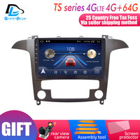 4G Lte Android 9.0 Car multimedia navigation system GPS player For Ford S Max 2007 2008 years IPS screen Radio stereo