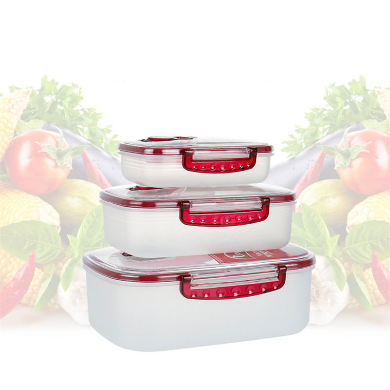 3pcs Press Vacuum Preservation Box Set Sealed Food Box Multipurpose Kitchen Food Vacuum Storage Box Food Fresh Keeping Container 1