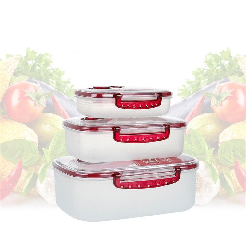 3 шт. вакуумный контейнер Еда ящик для хранения многоцелевой Пресс вакуумный контейнер для хранения герметичный Еда коробка Кухня Еда для с...