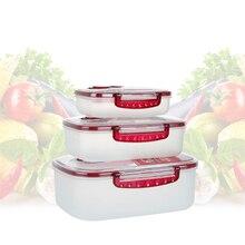 3pcs Vacuum Container Food Storage Box Multi-purpose Press Vacuum Preservation Box Sealed Food Box Kitchen Food Fresh Keeping