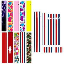 Stickers For JUUL Skin Oil Painting Pattern Protector 3M Adhesive Printing Label Colourful Vape Accessories(China)