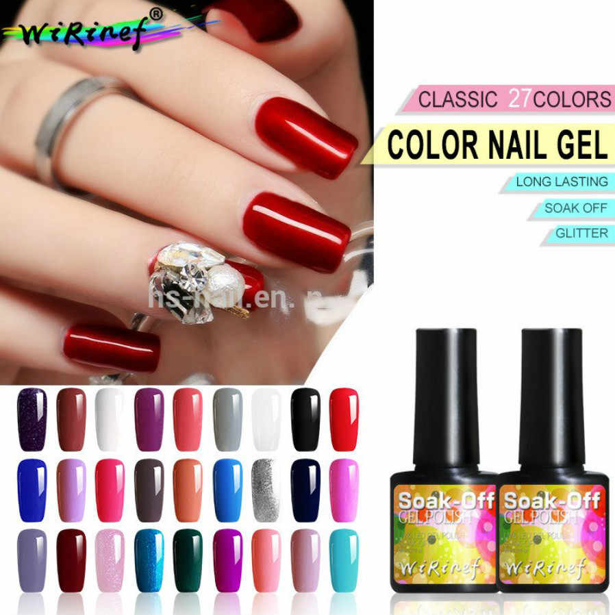 Fashion 8 Ml UV LED Nail Varnish untuk Manikur 27 Warna Gel Lacquer Semi Permanen Gel Cat Kuku seni DIY Alat Desain
