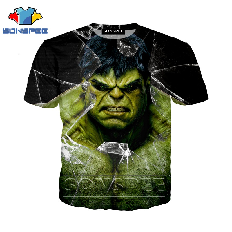 Anime 3d Print Avengers Kids T Shirt Streetwear Children Hulk Men Women Fashion T-shirt Harajuku Kids Shirts Homme Tshirt A295