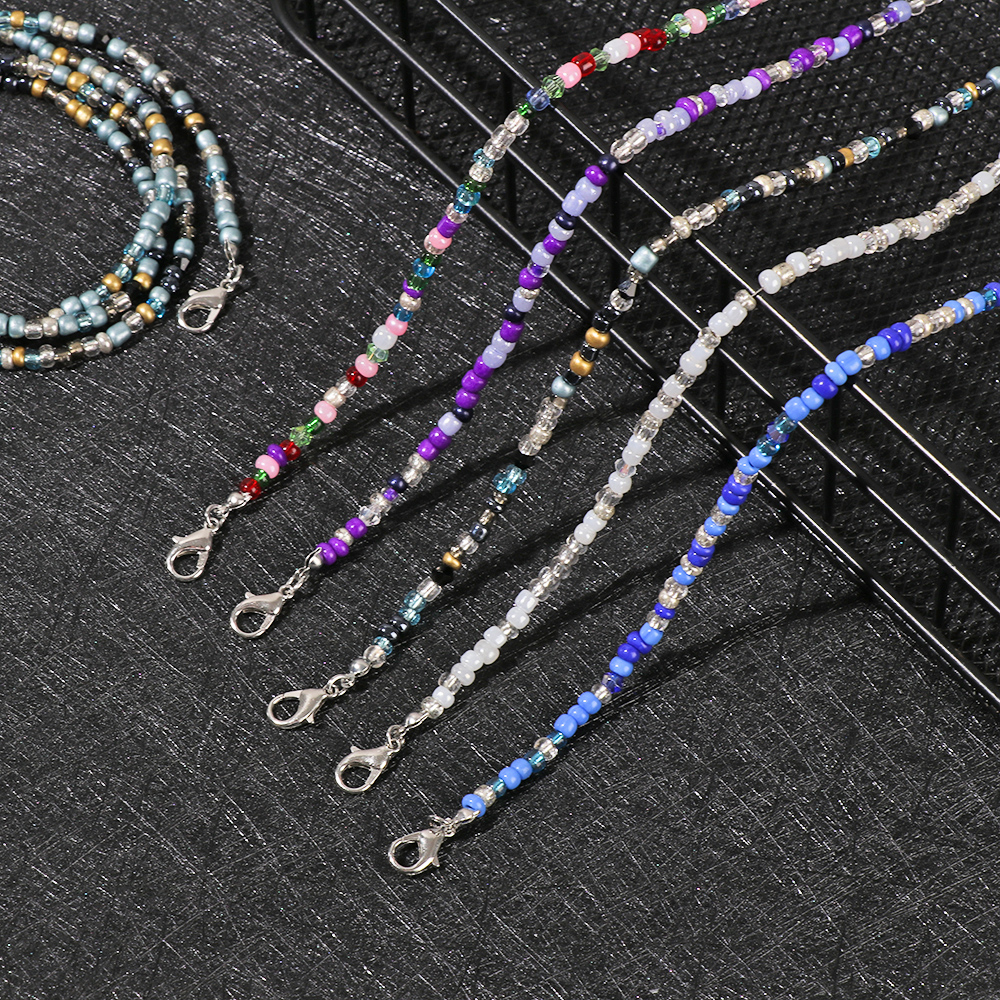 1PC New Fashion Unisex Anti-lost Acrylic Beaded Chain Face Mask Lanyards Reading Glasses Chain Neck Straps Mask Cord Holder(China)