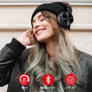 Image 3 - Oneodio auriculares inalámbricos con micrófono extensible para videojuegos, plegables, portátiles, Bluetooth V5.0