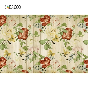 Image 5 - Laeacco Wooden Board Flowers Photography Backdrops Children Portrait Newborn Backgrounds Baby Shower Photocall For Photo Studio
