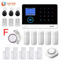 PG-103 Wireless WIFI&GSM Home/Business Burglar Fireproof Security Alarm System With Smoke Detector For iOS and Android
