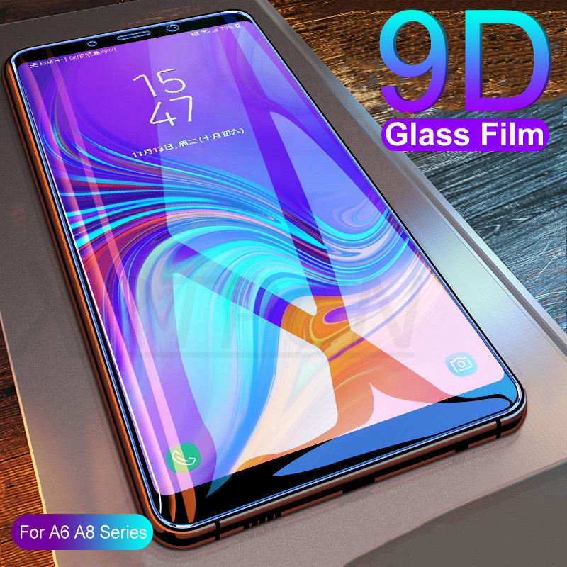 9D Protective Tempered Glass On For Samsung Galaxy A6 A8 J4 J6 Plus 2018 J2 J7 J8 A7 A9 2018 Screen Protector Glass Film Case