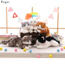 40 см(16 дюймов) Красивая игрушечная кошка Имитация животных игрушечная Кошка милый питомец плюш ювелирные изделия Рождественская игрушка, подарок детям нравится