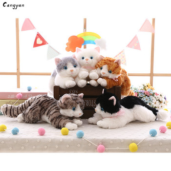 40cm(16in) Beautiful cat doll simulation animal cat doll cute pet plush jewelry Christmas toy gift kids like chi s cheese cat private sweet cat papa big eyes cat plush toy doll kids toy home pillow