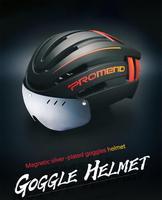 Casco ultraligero para bicicleta, con luces LED recargables, ajustable, seguro para motocicleta