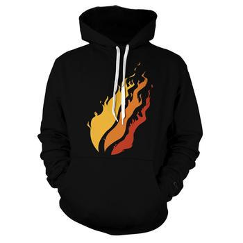 2020New Funny Three fires 3D Print Color Tide brand S weatshirt Hoodies Unisex Sweatshirt Hip-hop Fashion Streetwear Hoodies 2