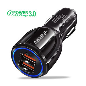 TKEY Dual USB Car Charger 18W 3.1A QC 3.0 Fast Charging Mobile Phone Charger Adapter For iphone 11 pro Samsung a71 Xiaomi redmi