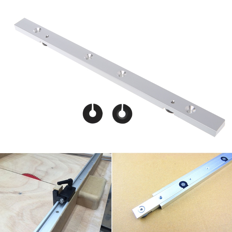 OOTDTY 300MM Aluminium Alloy Rail Miter Bar Slider Table Saw Gauge Rod Woodworking Tool