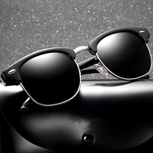 купить Classic Half Metal Fashion Polarized Sunglasses Men Women Brand Designer Sun Glasses 2019 New Glasses UV400 дешево