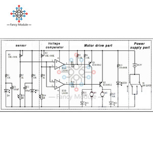 Image 3 - D2 1 스마트 로봇 자동차 키트 추적 자동차 감광성 로봇 부품 DIY 전기 장난감