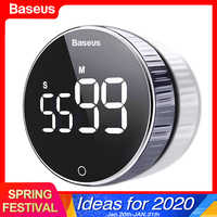 Baseus Led Digital Timer da Cucina per La Cottura Doccia Studio Cronometro Sveglia Magnetico Elettronico Cucina Conto Alla Rovescia Timer