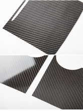 Caixa de apoio braço painel controle console central carbono para tesla para tesla model3/y2021 fibra carbono real