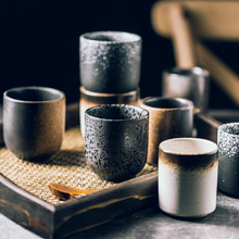 Japanese Tea Cup Handy Cup Ceramic Cup Water Cup Sushi Tableware Tea Set Teapot Retro Simple for Household Restaurant