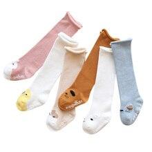 baby anti slip winter socks boys girls newborn infant knee high warm sock toddler children cute Cartoon animal cotton long socks